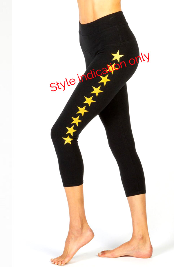 Hi Rise Capri Leggings with Stars - Pranachic