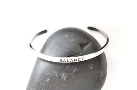 BALANCE - Stainless Steel Cuff Bracelet for Women and Men - Pranachic
