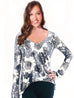 Long Sleeve Floral Garden Burnout Top - SALE - Pranachic