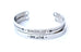BREATHE - Stainless Steel Cuff Bracelet for Women and Men - Pranachic