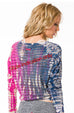 Holey Jersey Shrinky Sweatshirt - with Lava Tie Dye - Pranachic