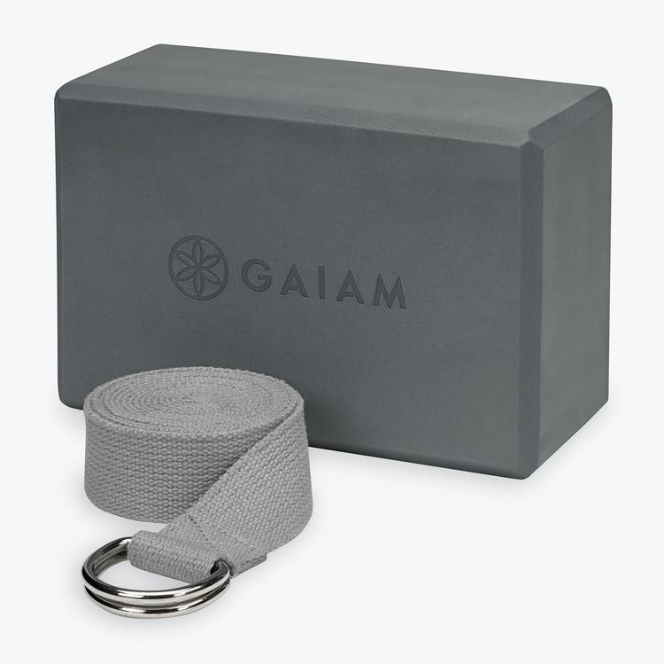 Gaiam Essentials Block & Strap Combo - Pranachic