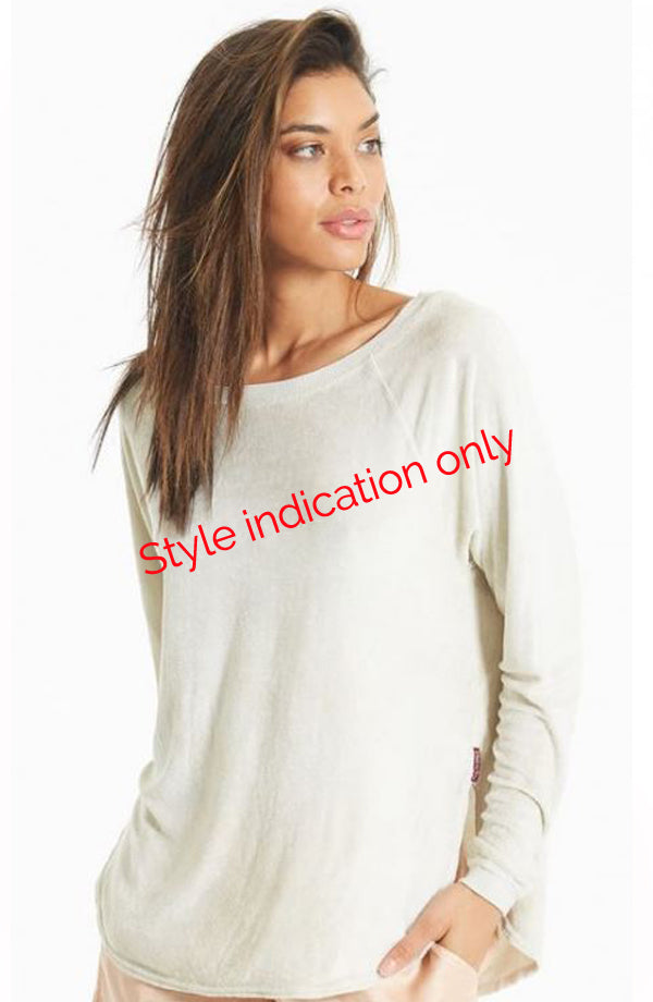 Long Sleeve Shoulder Slide Raglan T - Pranachic