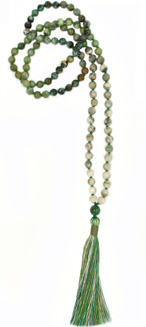 TRUE HEART OMBRE - Green Heart Chakra Ombre Mala