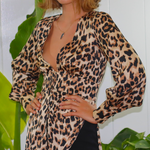 Load image into Gallery viewer, LEOPARD LONG SLEEVE BLOUSE