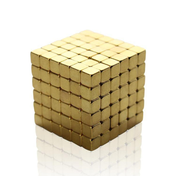 Original 216pcs Gold Buckycubes Magnetic Blocks Cubes Building T