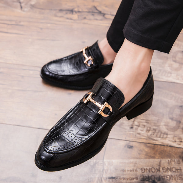 Crocodile Leather Bow Carving Men Business British Shoes(BUY 2 TO GET 10% OFF)