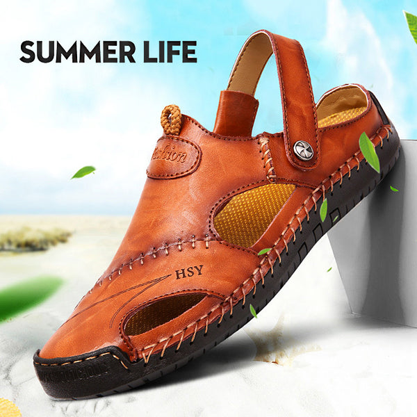 Classic Men Soft Comfortable Leather Sandals(BUY 2PCS TO GET 10% OFF)