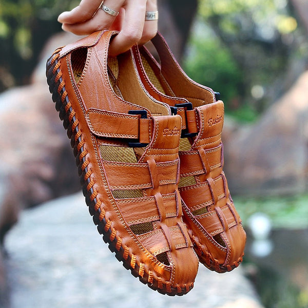 Outdoor Breathable Men Cow Leather Sandals(BUY 2 TO GET 10% OFF)