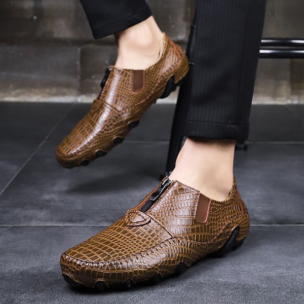 2019 New Men Crocodile Genuine Leather Driving Loafers(BUY 2 TO GET 10% OFF)