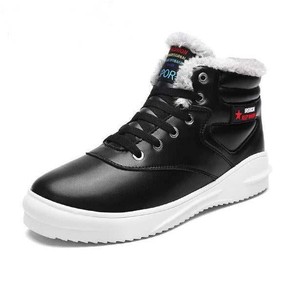 Winter Fashion Leather Casual Men Shoes