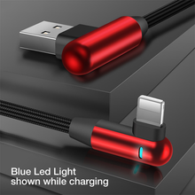 Load image into Gallery viewer, LED Light Nylon Weaving USB Cable for iPhone X 8 7 6