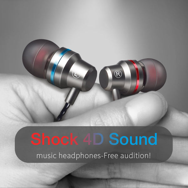 4D Stereo Surround Wired Music Earphone for Samsung/iPhone(BUY 2 TO GET 10% OFF)