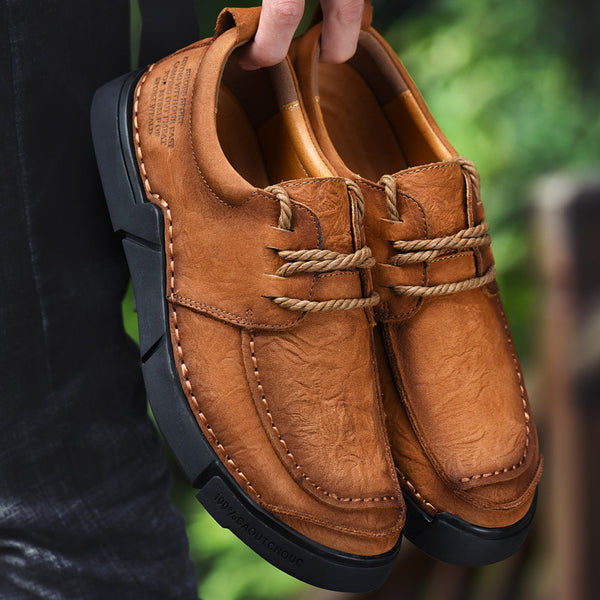 Cow Leather Outdoor Men Comfortable Shoes