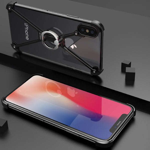 save off 29de4 e1af6 Personality X Shape Case For iPhone X With Gift Glass Film