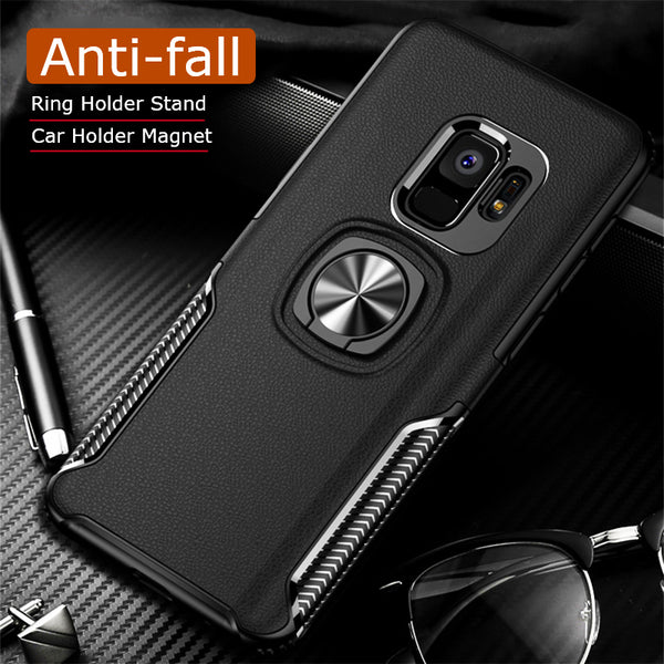 Luxury Metal Ring Car Stand Silicone Case For Samsung S9/S9 Plus(BUY 2 TO GET 10% OFF)