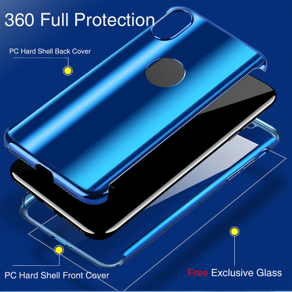 Full Body Protection Mirror Case For iPhone X/6s/7/8 Plus