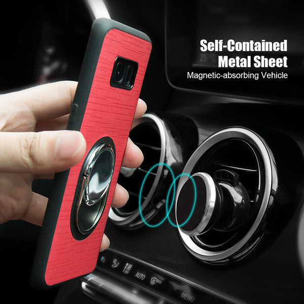 Car Magnetic Ring Holder Case For Samsung Galaxy S8 Plus /S7