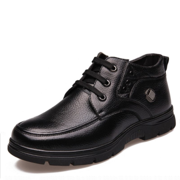 Plus Size New Men Genuine Leather Boots