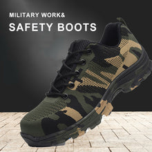 Load image into Gallery viewer, Construction Men's Steel Toe Camouflage Work & Safety Boots(BUY 2 TO GET 10% OFF)