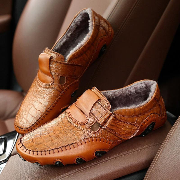 Winter Warm Male Split Driving Shoes