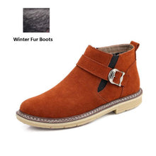Load image into Gallery viewer, Fashion Winter Leather Warm Men Snow Boots