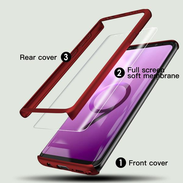 Full Body Case for Samsung Galaxy S8/S9/S8/9Plus with Screen Protector