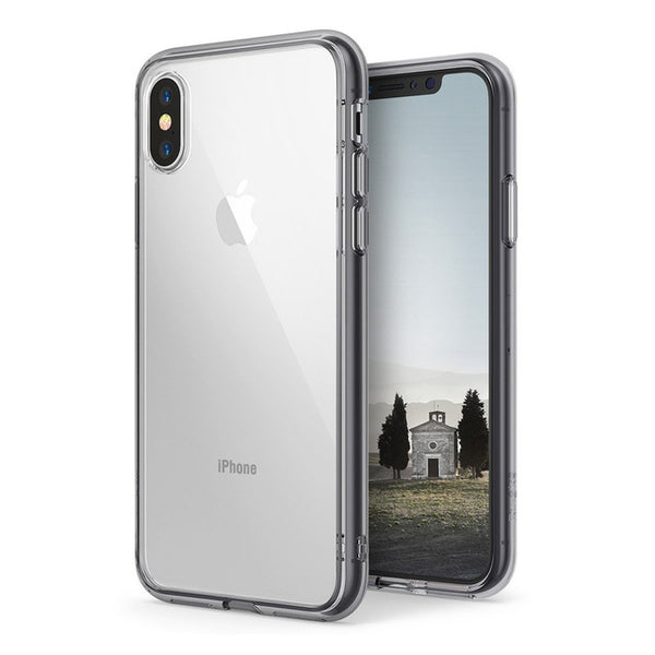 Clear PC Back and Soft TPU Frame Case For iphone X
