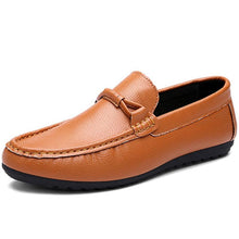 Load image into Gallery viewer, Male Casual Leather Loafer Shoes