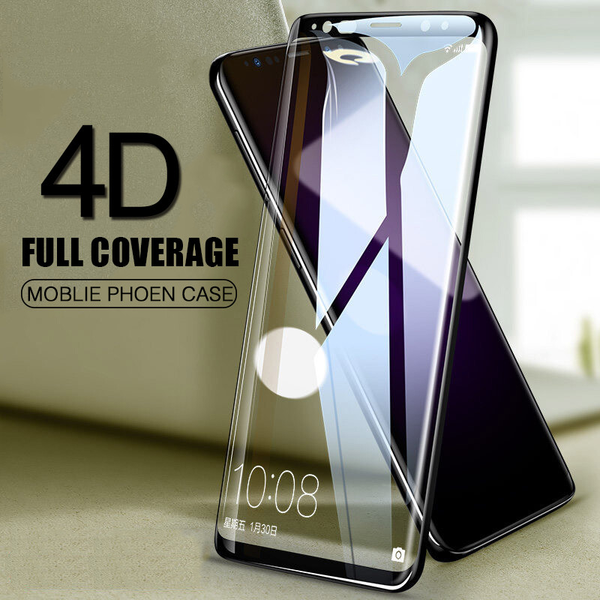 4D Full Cover Tempered Glass For Samsung Galaxy  S7 S8 S9 Plus