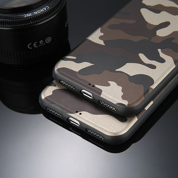 Army Green Camouflage Case For iPhone X 6 6S 7 8 Plus