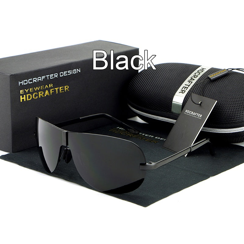 UV400 Rimless Men's Polarized Sunglasses