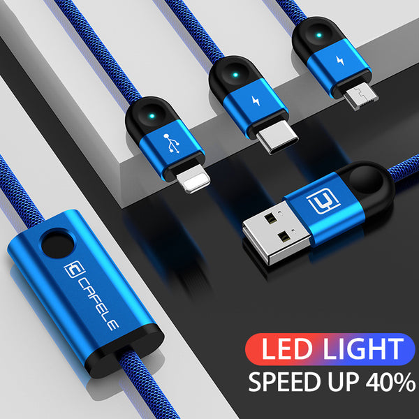 3in1 Lighting Charge Cable for iPhone/Type C/Micro(BUY 2PCS TO GET 15% OFF)