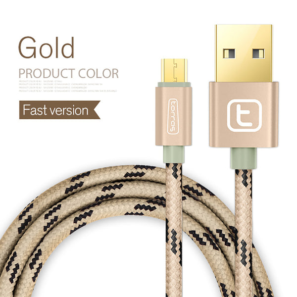 Gold Plated Fast Charge USB Cable For Samsung