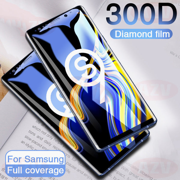 300D Full Curved Tempered Glass For Samsung S9 S8 Plus Note 9(BUY 2 TO GET 10% OFF)