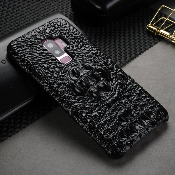 Luxury Genuine Leather Crocodile Pattern Case for Samsung S9/S9 Plus(BUY 2 TO GET 10% OFF)