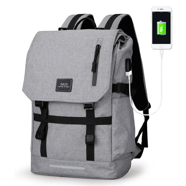 Waterproof Large Capacity USB Design Laptop Backpack