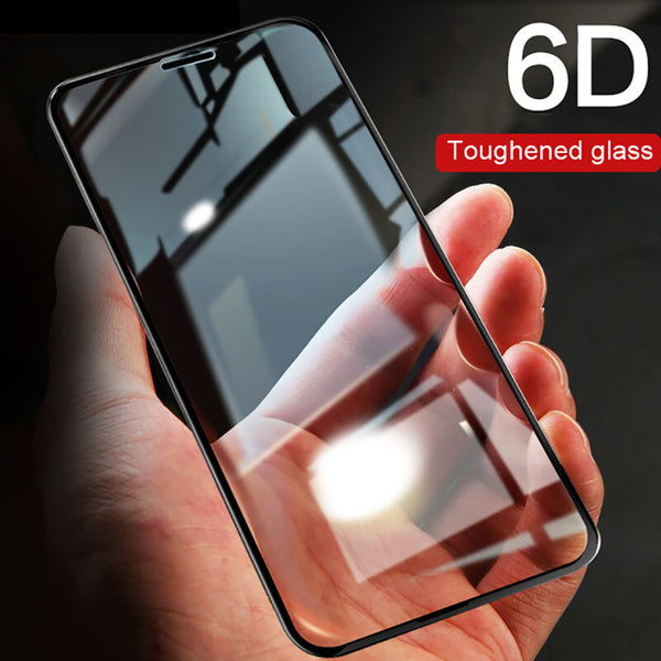 6D Full Cover Edge Tempered Glass Screen Protector For iPhone X 10 7 8 6 Plus