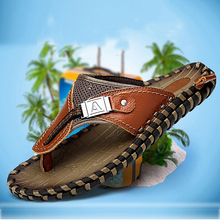 Load image into Gallery viewer, Summer Men's Handmade Genuine Leather Beach Slippers(BUY 2PCS TO GET 10% OFF)