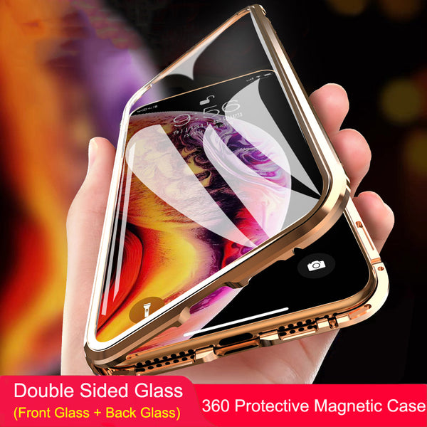 360 Full Body Magnetic Metal Frame Case for iPhone X/XS/XS max(BUY 2 TO GET 10% OFF)