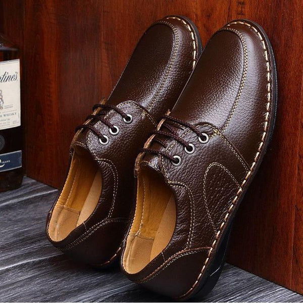 Hot Sale Genuine Leather Men Flats Shoes Hand Sewing Men Oxfords shoes