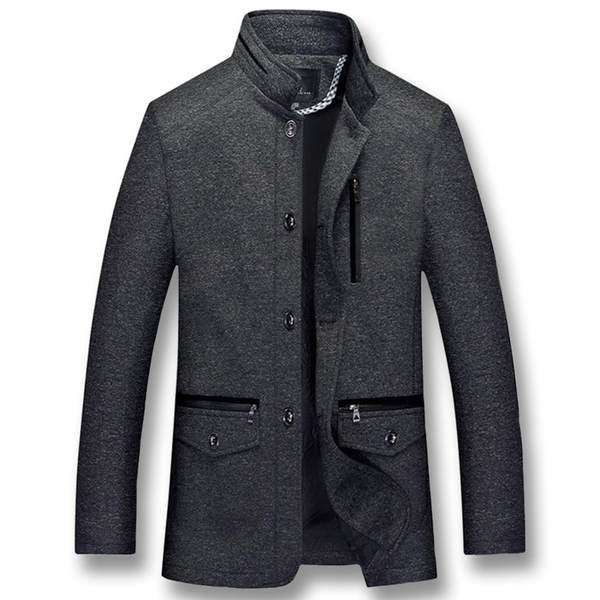 Male Casual Fashion Slim Fitted Smart Casual Large Size Winter Jackets