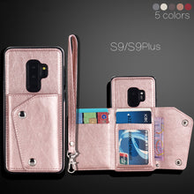 Load image into Gallery viewer, Leather Wallet Flip Case For Samsung S9/ S8 Plus/S7 edge(BUY 2PCS TO GET 15% OFF)