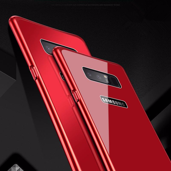 Luxury Hybrid Metal Frame+Tempered Glass Case for Samsung Galaxy Note8 S8 S8Plus