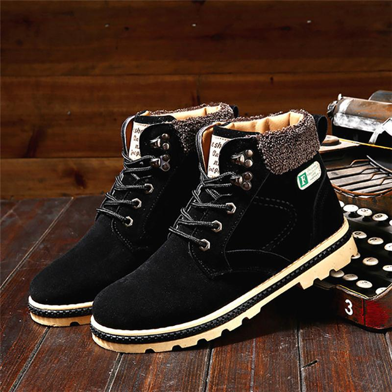 Fashion Thick Plush Lace up Snow Martin Boots