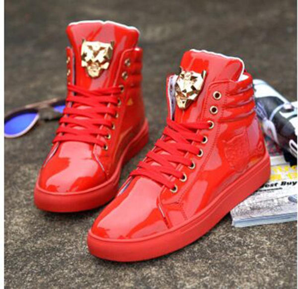 Fashion Animal Metal Decoration Ankle Boots