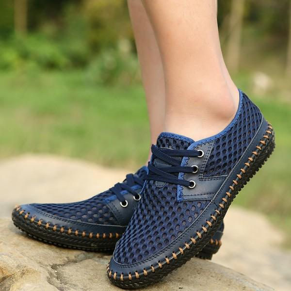 Mesh Lace-up Summer Shoes