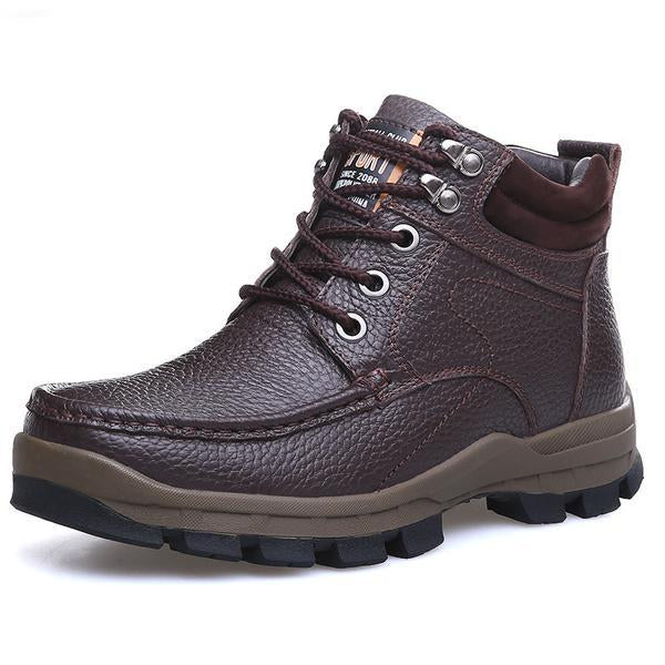 Big Size Super Thick Leather Casual Boots