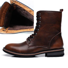Load image into Gallery viewer, Soft Genuine Leather Men Motorcycle Boots