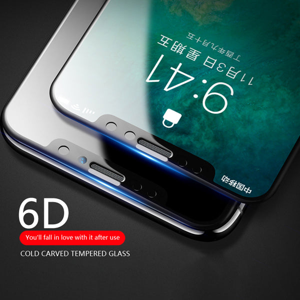 6D Curved Edge 9H Hardness Tempered Glass for iPhone X(BUY 2PCS TO GET 15% OFF)